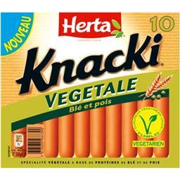 Knacki - Saucisses végétales blé et pois