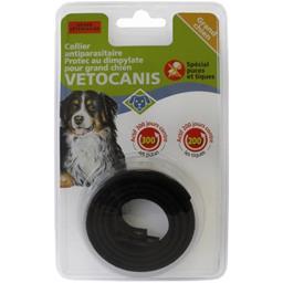 Collier dimpylate chien protec anti-parasite, noir