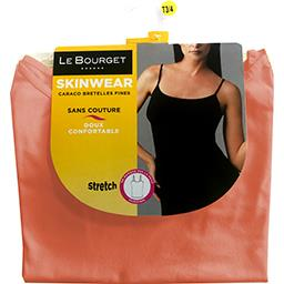 Caraco Skinwear bretelles fines taille 3/4 corail