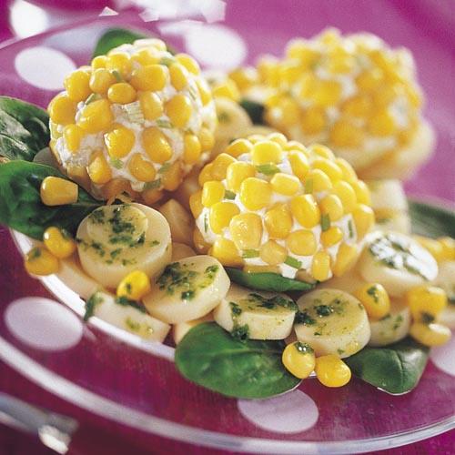 Boules maïs fromage frais