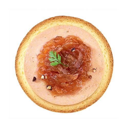 Toast foie gras et compotée d'oignons