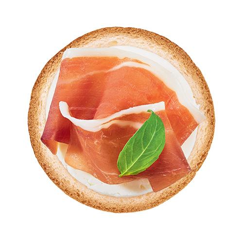 Toast ricotta et jambon de parme