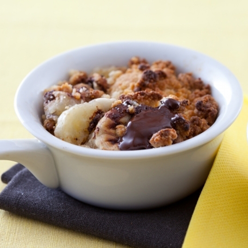 Poire-banane au chocolat