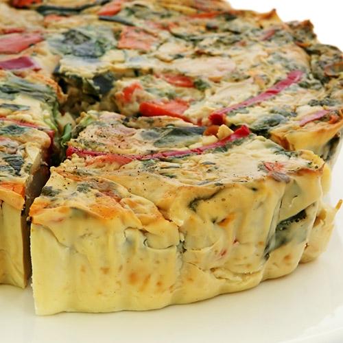 Quiche sans pâte gourmande aux légumes