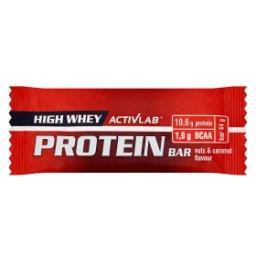 High Whey Protein Baton wysokobiałkowy z dodatkiem BCAA o smaku orzechowo-karmelowym