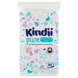 Kindii Baby Sensitive Bawełniane płatki dla niemowląt 60 sztuk
