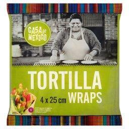 Placek pszenny tortilla 25 cm  (4 sztuki)
