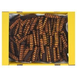 Ciastka kruche domowe dekorowane polewą kakaową
