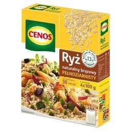 Ryż naturalny brązowy pełnoziarnisty 400 g (4 torebki)