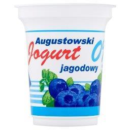 Jogurt Augustowski jagodowy 0% tłuszczu