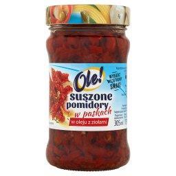 Suszone pomidory w oleju z ziołami w paskach
