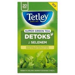 Super green Detoks z selenem Zielona z Miętą 20 torebek