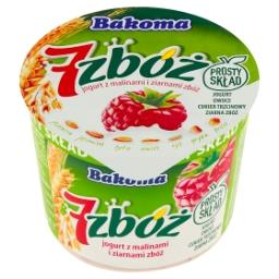 7 zbóż Jogurt z malinami i ziarnami zbóż