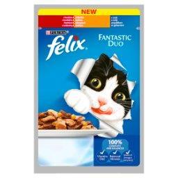 Fantastic Duo Karma dla kotów z wołowiną i drobiem w galaretce
