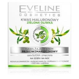Nawilżający krem przeciwzmarszczkowy Kwas hialuronowy Zielona oliwka dz/n