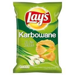 Karbowane o smaku Zielona Cebulka Chipsy ziemniaczane