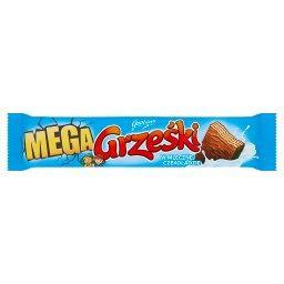 Mega Wafel przekładany kremem kakaowym w czekoladzie...