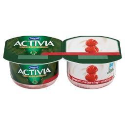 Activia Jogurt naturalny i maliny 240 g (2 sztuki)