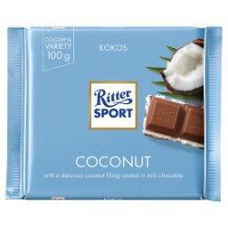Czekolada mleczna nadziewana kremem mleczno-kokosowym