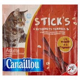 Stick's Pałeczki z jagnięciną i drobiem Uzupełniająca karma dla dorosłych kotów