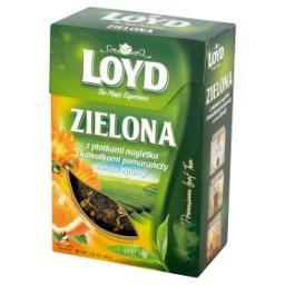 Herbata zielona z płatkami nagietka i kawałkami pomarańczy o smaku opuncji