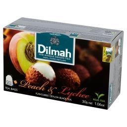 Cejlońska czarna herbata z aromatem brzoskwini i owocu liczi 30 g (20 torebek)