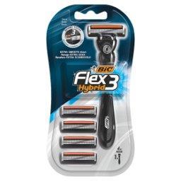 Flex 3 Hybrid Jednoczęściowa 3 ostrzowa maszynka do golenia i 4 wymienne wkłady