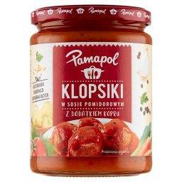 Klopsiki w sosie pomidorowym z dodatkiem kopru