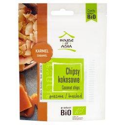 Bio chipsy kokosowe prażone karmel