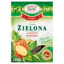 Herbata zielona z owocem ananasa