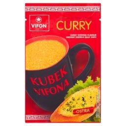 Kubek a Kurczak Curry Zupa błyskawiczna o smaku kurczaka curry z kluskami ostra