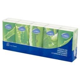 Chusteczki higieniczne 4-warstwowe z balsamem o zapachu aloesu 10 x 10 sztuk