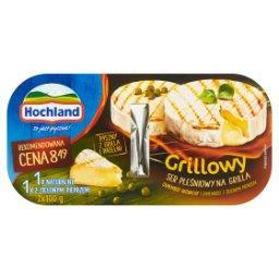 Grillowy ser pleśniowy Camembert naturalny i z zielo...