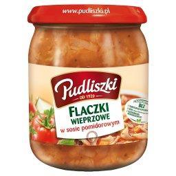 Flaczki wieprzowe w sosie pomidorowym