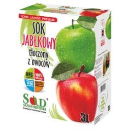 Sok jabłkowy tłoczony z owoców