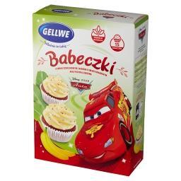 Disney Auta Babeczki o smaku czekoladowym z kremem bananowym oraz posypką cukrową