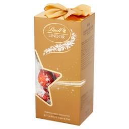 Lindor Pralinki z czekolady mlecznej białej i gorzkiej z nadzieniem