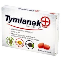 Tymianek Plus Pastylki do ssania Suplement diety 28 g (8 sztuk)