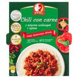 Chili con carne z mięsem wołowym i ryżem