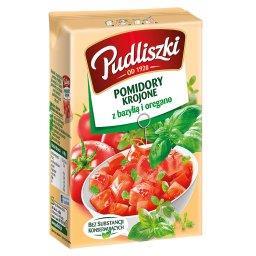 Pomidory krojone z bazylią i oregano