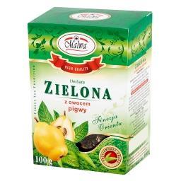 Herbata zielona z owocem pigwy