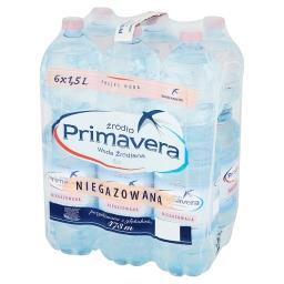 Woda źródlana niegazowana 6 x 1,5 l