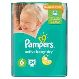 Active Baby-Dry rozmiar 6 (Extra Large), 24 pieluszki