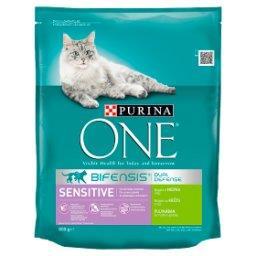 Sensitive Pełnoporcjowa karma dla dorosłych kotów bogata w indyka i ryż