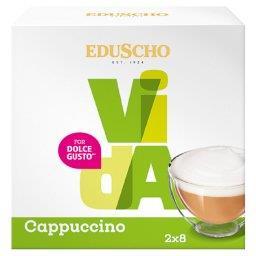 Vida Cappuccino Kawa mielona w kapsułkach (8 x 8 g) i mleko w kapsułkach (8 x 17 g)