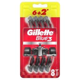 Blue3 Nitro Jednorazowa maszynka do golenia dla mężczyzn, 6+2 sztuki