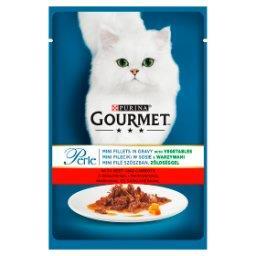 Perle Karma dla kotów mini fileciki w sosie z wołowiną i marchewką