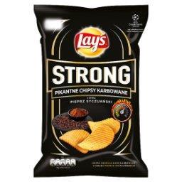 Strong Pikantne chipsy karbowane o smaku pieprz syczuański 140 g