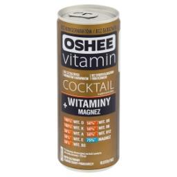 Vitamin Cocktail Suplement diety napój gazowany o smaku guavy-pomarańczy