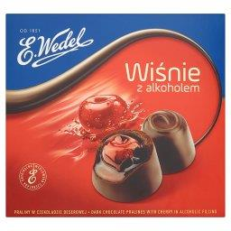Wiśnie z alkoholem Praliny w czekoladzie deserowej